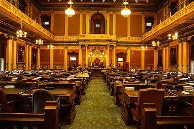 Lansing, Michigan, USA --- House of Representatives Chamber in Michigan State Capitol --- Image by © Richard Cummins/CORBIS