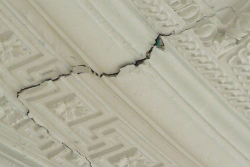 Cracking Plaster Beam